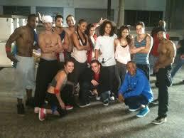 Wesley Quinn on the set of Honey 2! - Team V Factory