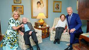 Smiling Jimmy Carter seen in photo from ...