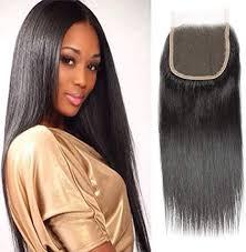 Selina Hair 4x4 Closure Brazilian <b>Straight</b> Lace Closure Human Hair ...