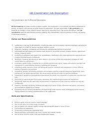 hr coordinator resume cover letter .