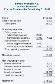 Profit And Loss Statement Sample Balance Sheet And Income Statement For Small Business