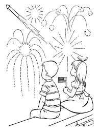 Fourth Of July Fireworks Coloring Pages - GetColoringPages.com