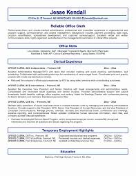 Office Clerk Resume Sample New Colorful Resume Objective General