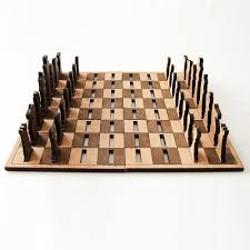 simple chess set. Unique Set Equally Simple Portable Chess Set Using Only Birchwood Hardwood The  Pieces Are Flat And Use Slots In Checkboard To Stand Making It Very Portable Throughout Simple Chess Set