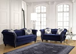 Blue Sofa Blue Fabric Sofa Nailhead Trim