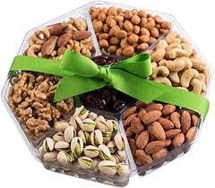 nut cravings holiday gourmet nuts gift baskets large 7 sectional delicious variety mixed nuts prime gift healthy fresh gift idea for