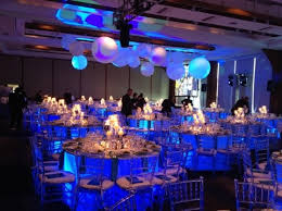 Blue Uplights Underneath Table Linens Create This Amazing Effect For A  Wedding Reception  Pinterest
