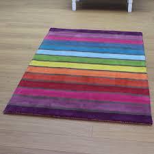 rainbow coloured rug