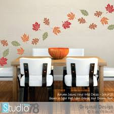 fall leaves wall decals autumn leaves earth day fall home decor thanksgiving