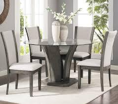 brayden studio kangas 5 piece glass top dining set reviews wayfair pertaining to popular residence 5 piece round glass dining set remodel