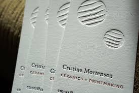 Letter Press Business Card Cristine Mortensen Letterpress Letterpress Business