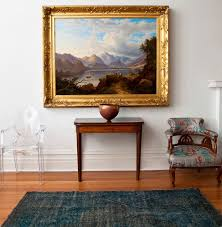 view in gallery chic overdyed rug in an elegant hall