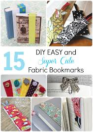 15 diy easy and super cute fabric bookmarks