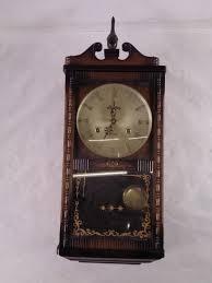 linden 31 day wind up wall clock wood w key goodwill com