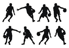Vectors Silhouettes Basketball Player Silhouettes Download Free Vector Art Stock