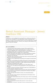 retail assistant manager jersey gardens adidas