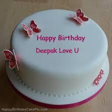 Happy Birthday Cake Name Deepak Image Sfb