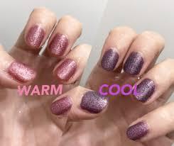 温度で色が変わるマニキュアを冬に使うとめっちゃ楽しい