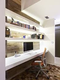 furniture long narrow wall mounted computer desk design feat stylish shelving idea for small office