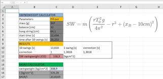 Swing Weight Scale Chart Swingweight