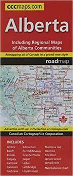 Alberta Distance Chart Alberta Road Map Canadian Cartographics Corporation