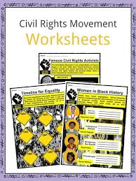 Civil Rights Movement Facts & Worksheets For Kids | Teaching Resource