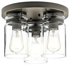 lighting bronze flush mount kichler ceiling lights universal glass bowl fan light kit industrial