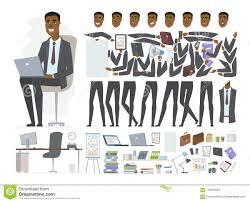 African Businessman Vector Cartoon People Character