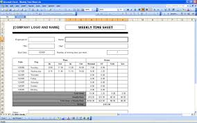 Time Sheets Excel Templates