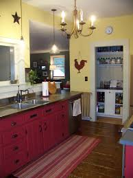 Country Farm Kitchen Decor Vintage Farmhouse Kitchen Decor White Stain Wall Varnished Wood