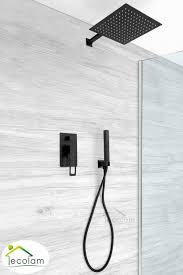 Set Duschsystem Unterputz Regendusche Armatur Brause Black Schwarz Matt Soho