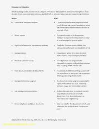 63 Executive Cv Template Word