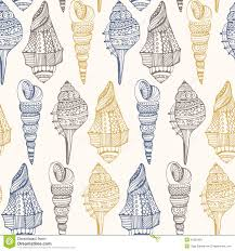 Seashell Design Seashell Seamless Pattern Stock Illustration Illustration Of Icon