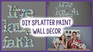 diy splatter paint wall decor tumblr inspired quick easy diy