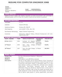 Sample Resume J2ee