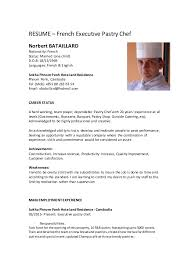 Executive Pastry Chef Resume Pastry Chef Resume Sample Chef Resume