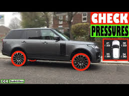 How To Check Tire Pressures On Range Rover From The