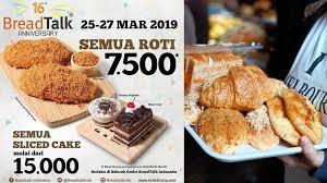 Promo Breadtalk Terbaru Hari Ini Semua Roti Dijual Rp 7500 Berlaku