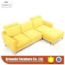 yellow leather contemporary sectional sofa mustard er