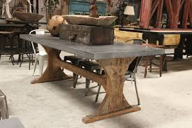 salvaged wood trestle dining table yard chic best ideas of