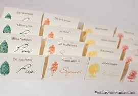 Fall Place Cards Autumn Trees Colorful Fall Escort Cards Or Place Cards Tent Style Or Flat Card Style