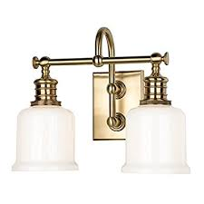 Double Sconce Bathroom Lighting Delectable Keswick 48Light Vanity Light Aged Brass Finish With Opal Glossy