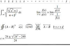 type mathematical equations in ms word