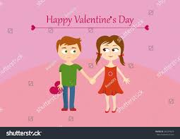 happy valentines day clip art for kids. Unique Clip Cute Valentines Couple Girl And Boy Happy Valentineu0027s Day Greeting Card  Illustration With Inside Valentines Clip Art For Kids