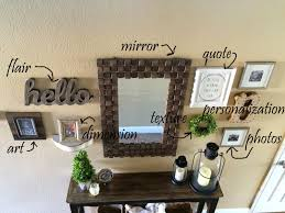 our stairs are right behind it so i can t back up far enough to get the whole wall in the shot so bear with me mirror