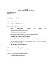 Agenda For Meetings Format 8 Board Meeting Agenda Templates Free Sample Example