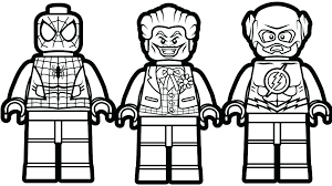 Superhero Lego Coloring Pages A Super Dc Comics Flash For Avengers