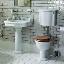 heritage new victoria low level toilet basin set