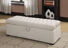 bedroom storage bench. Perfect Upholstered White Tufted Bench Storage For Your Bedroom N