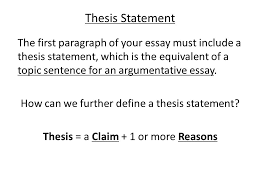 the tem exam making a claim in your essay thesis statement the  2 thesis statement